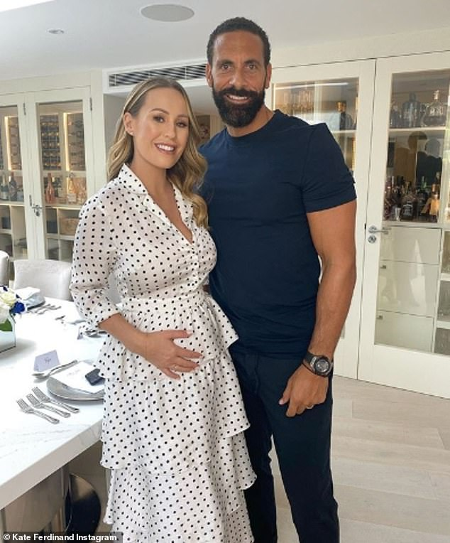 Mummy-to-be: Kate has been documenting her pregnancy on Instagram (pictured with husband Rio)