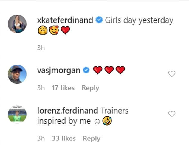 Teen Idol: icon of the family's teenage fashion, Lorenz took credit for Kate's glamorous shoes by commenting: `` Sneakers inspired by me '' followed by a laughing emoji
