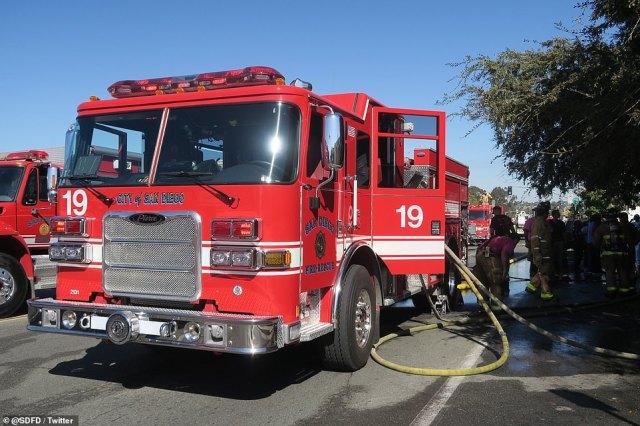 All SDFD personnel has been accounted for as of 11.19am, according to San Diego Fire authorities. No firefighters have been injured so far