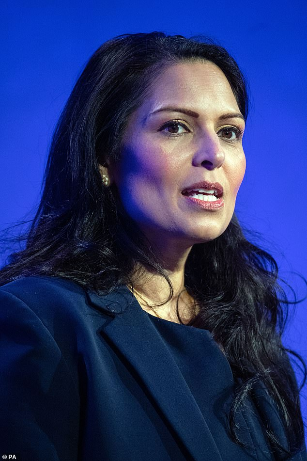 In a statement to the Commons, Priti Patel (file picture) said there will also be fast-track visas for health and care working coming into the country