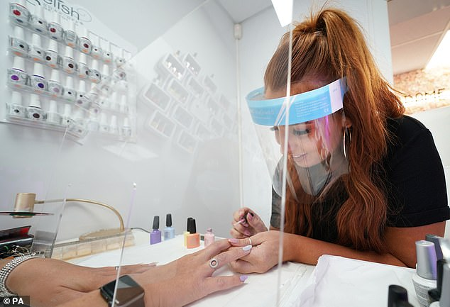 Beautician Alex Smithat the Madame Beauty salon in Chirton, North Tyneside