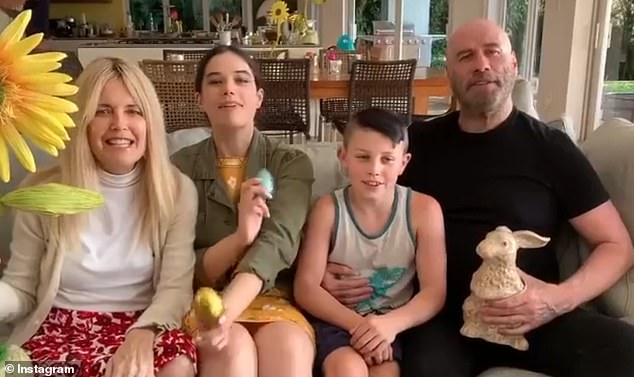 Travolta is pictured above with his wife and children Ella Bleu and Benjamin at Easter this year.Many of the tributes from friends yesterday acknowledged that this is a family that has already been touched by loss