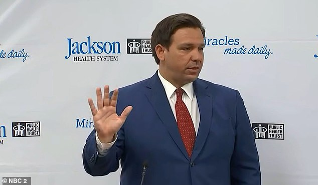 DeSantis stressed Monday that there is a lot of hospital capacity across the state