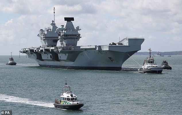 The class leading HMS Queen Elizabeth is expected to visit the Far East during its maiden grand voyage next year
