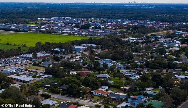 Perth had no suburbs in the top 20 list but two in the bottom 20 shame file with Byford (pictured) down 5.8 per cent as another area in the city's south-east, Maddington, fell by 5.7 per cent