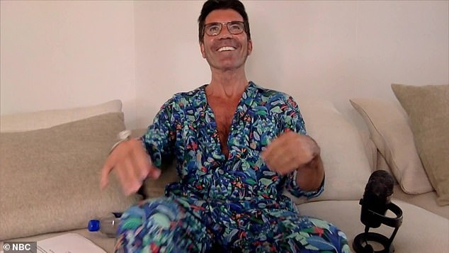 Outfit change; Simon Cowell was inspired by Heidi wearing pajamas at home and changed outfits