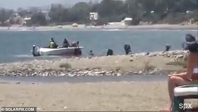 The boat and the men who carried the cannabis resin ashore had disappeared by the time police arrived and no arrests were made