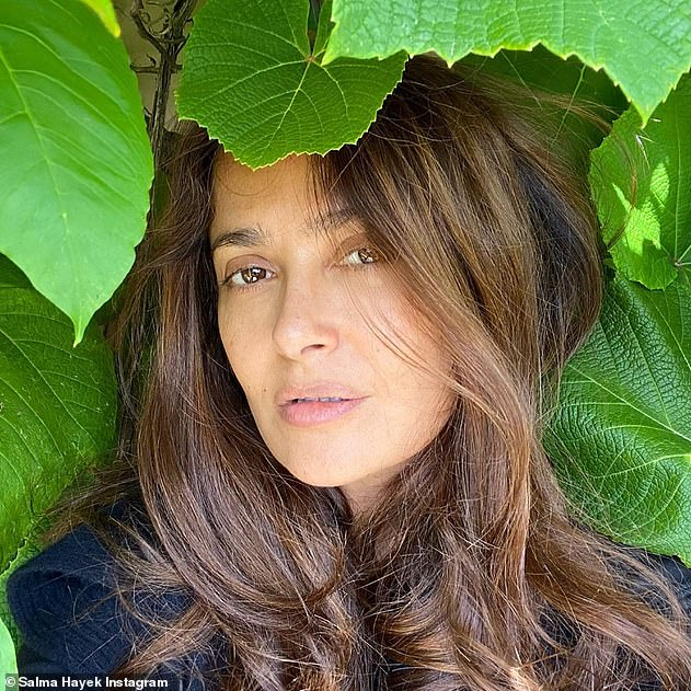 Self-love: Salma's post comes after she recently revealed her past struggles with self-worth, as she admitted she used to 'criticise' her looks while in her 30s and 40s