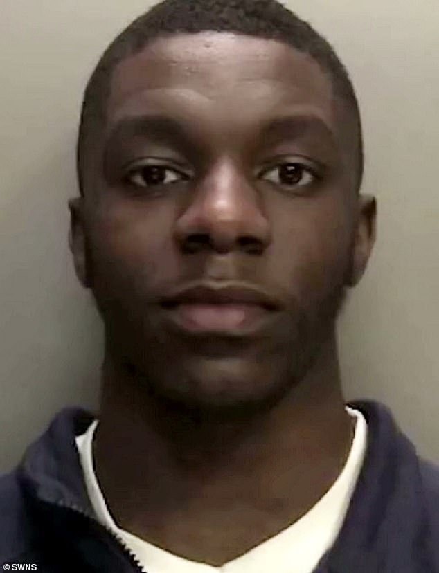 An investigation by West Midlands Police Birmingham Organised Crime & Gangs Team identified the men, who were arrested weeks later. Pictured, Damel Lebert, 23, who has been jailed for 20 months