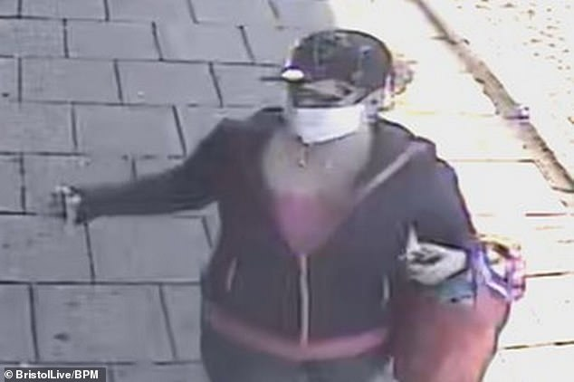 Klaudia was captured on CCTV footage in Two Mile Hill, Bristol, at about 8.25am on Sunday