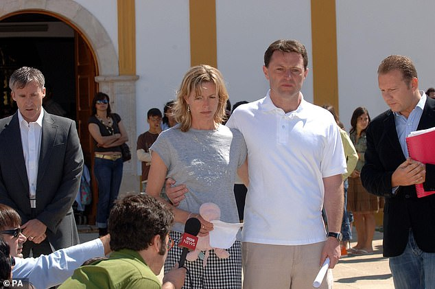 Kate and Gerry McCann, photographed in April 2007 after a church service in Praia Da Luz, Algarve, are kept informed of the investigation by German authorities who are expected to comment further this week