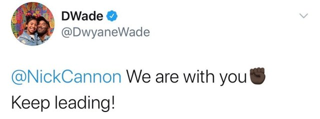 Former NBA star Dwyane Wade was among those who voiced their support for Cannon in the wake of the fallout but has since deleted his tweet