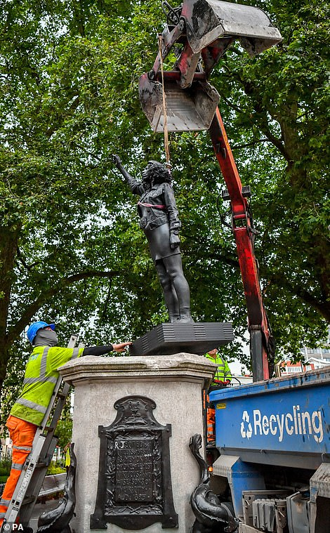 Council workers removed the statue on Thursday morning