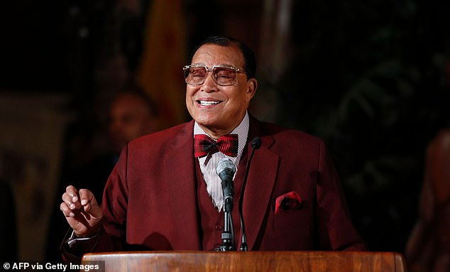Nick Cannon and NBA star Stephen Jackson have been accused of anti-Semitism after voicing their support for controversial Nation of Islam leader Louis Farrakhan (pictured) who is known for making offensive claims against Jews