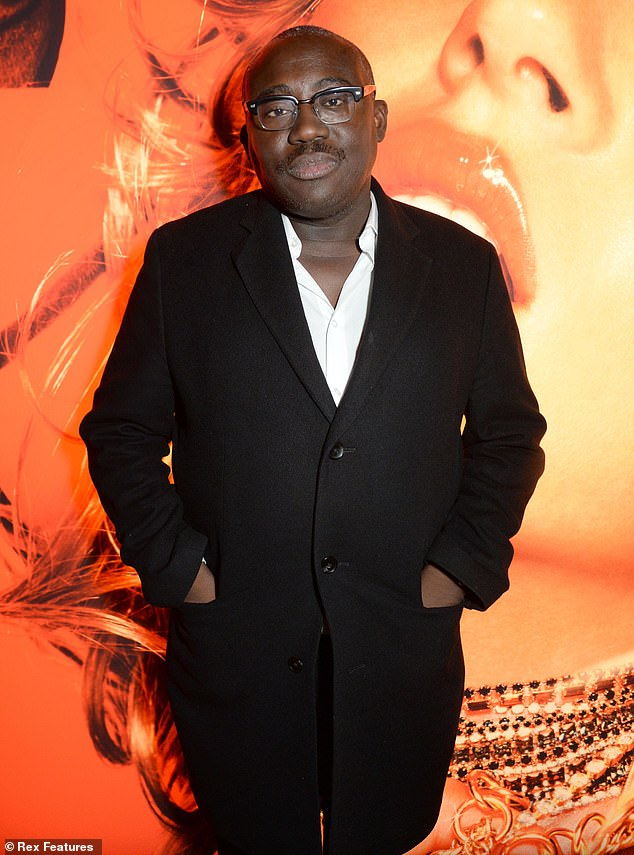 Vogue editor-in-chief Edward Enninful (pictured at Somerset House in November 2016) revealed he had been the victim of 'racial profiling' in his own office