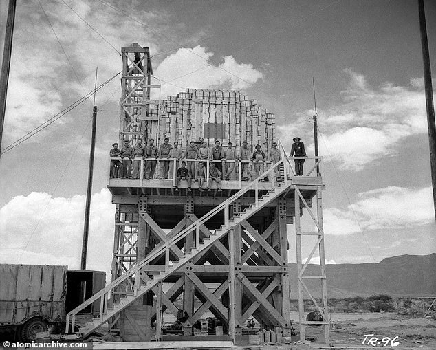 Because there would be only one chance to carry out the test correctly, the Trinity director, Kenneth Bainbridge wanted to run a dry-rehearsal with TNT explosives one month before the main nuclear event. Engineers stacked 108 tons of TNT on top of a 20-foot wooden platform that was constructed near ground zero of the to-be Trinity blast. The failed practice run revealed major shortcomings that needed to be addressed with only one-month left before the planned July 16, 1945 Trinity detonation