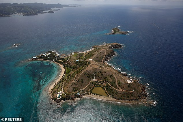 The island in question was Little St James, a spot in in the US Virgin Islands which Epstein bought for $7.95million in 1998
