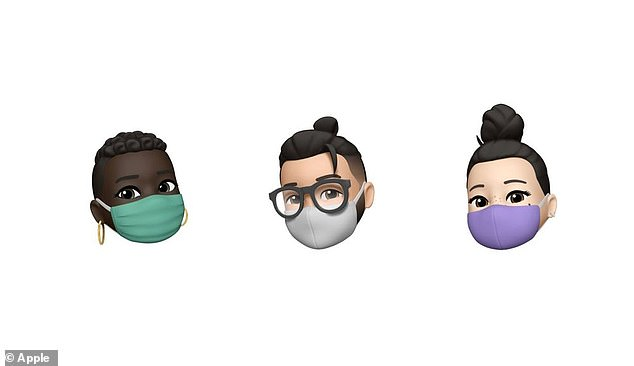 Apple has also updated its Memoji options to include various headwear and colored face masks amid the coronavirus pandemic