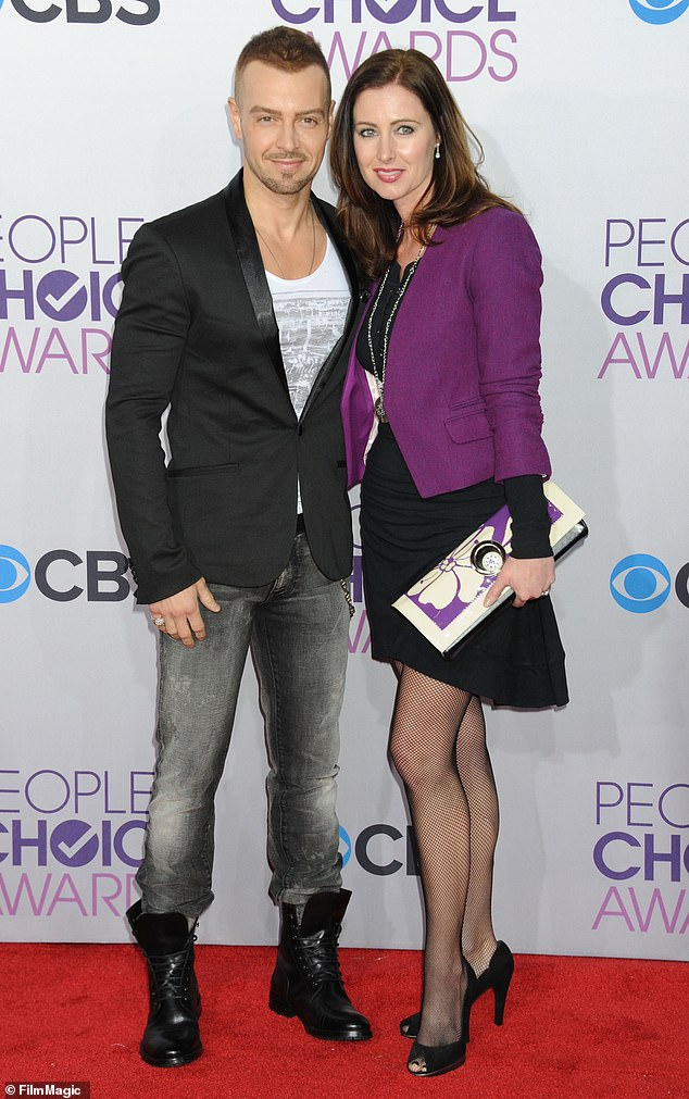 End of the road: Joey Lawrence has filed for divorce from his wife of nearly 15 years, Chandie Yawn-Nelson. They're seen in 2013 above
