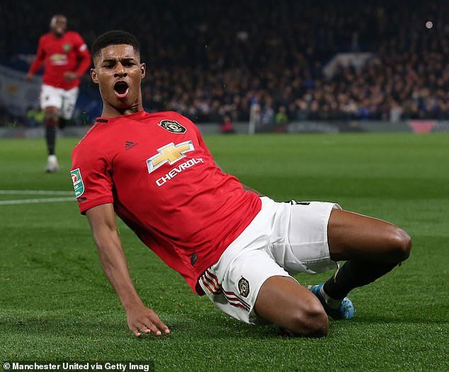 Marcus Rashford has opened the scoring twice from the spot against Chelsea this season