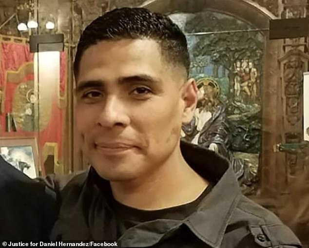 Hernandez was involved in a multi-car accident and got out of his vehicle, but after refusing to listen to instructions to stand still, he was shot