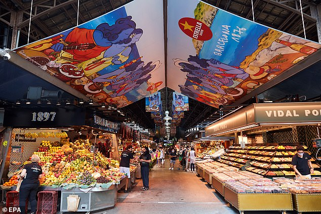 The city's La Boqueria market also welcomed very few visitors is a major blow to the Catalan economy