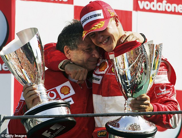 FIA president Jean Todt (left) has opened up on his stricken friend Michael Schumacher (right)