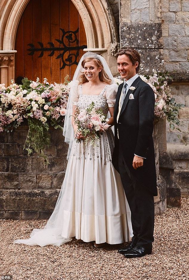 'Beatrice's decision to get married in a second-hand gown is interesting and, I must say, pleasantly surprising and touching,' says Alexandra Shulman