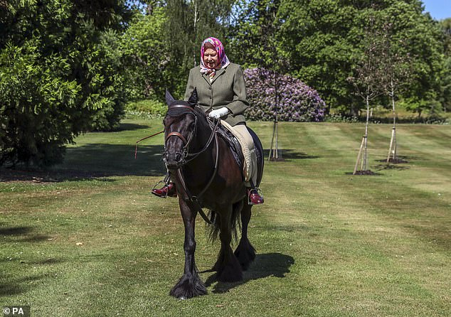 The Queen rides Balmoral Fern, named after the famous Scottish residence for the Royals