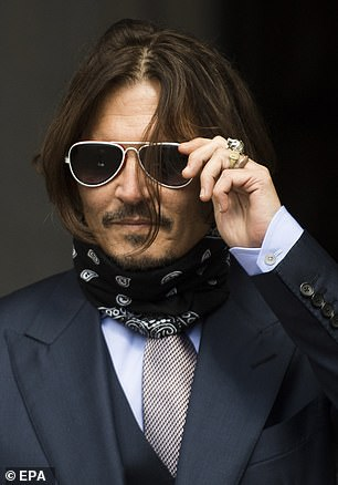 Pictured: Depp on Friday