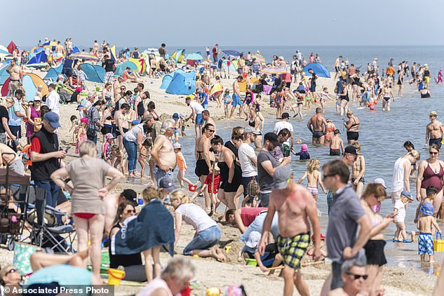Germany has also reported a recent outbreak. Numerous beach visitors were seen on the North Sea beach of Schillig, Germany, on Saturday
