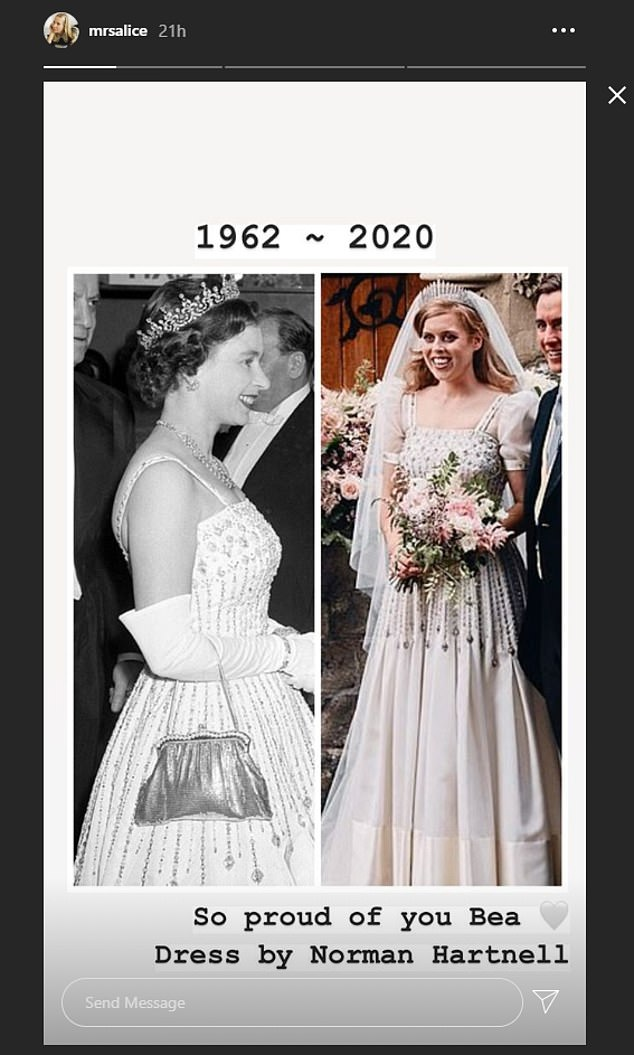 princess beatrice wedding dress comparison
