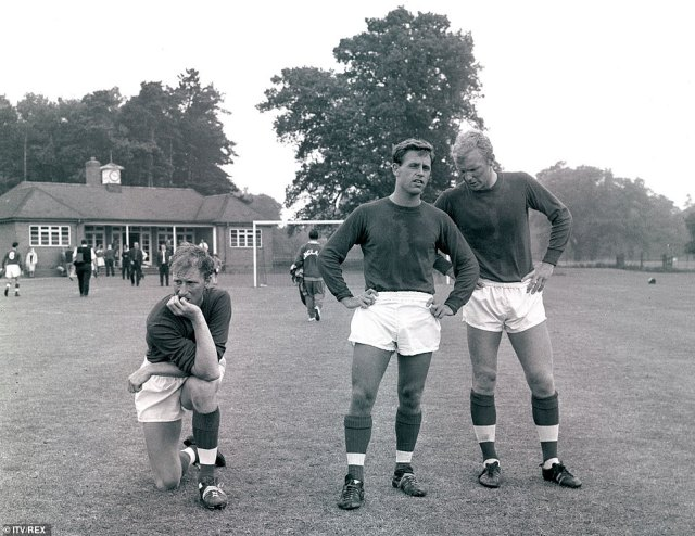 Charlton (left) and Moore (right, pictured at LIlleshall in 1966) were disparate personalities but they had a strong bond
