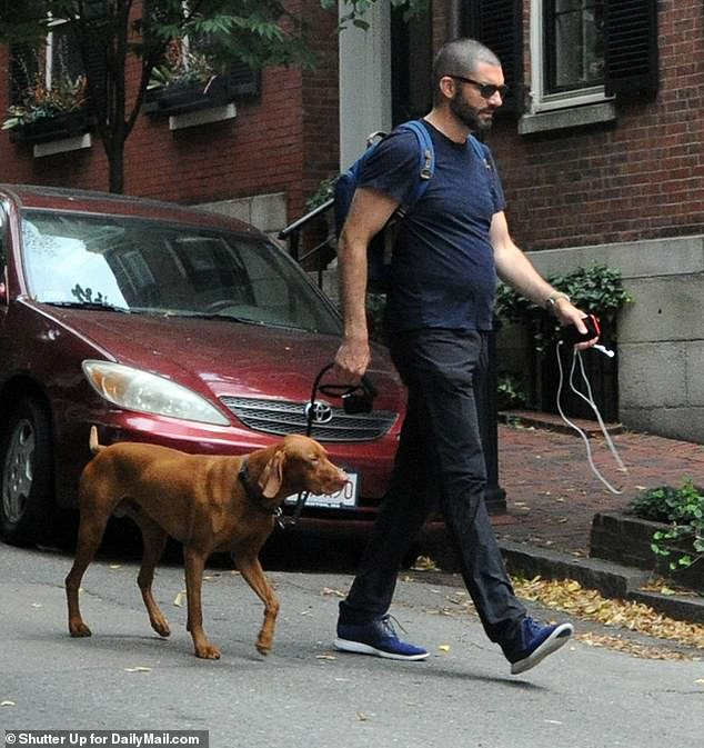 Last August when DailyMail.com first revealed that Maxwell was living with father-of-two Borgerson in Manchester, he said: 'Ghislaine Maxwell is not at my home and I don't know where she is.' Pictured: Borgerson last summer in Boston