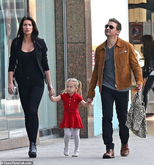 Renner has been in a long-running custody battle with his ex-wife Sonni Pacheco over their seven-year-old daughter Ava. The exes are pictured together with their daughter in 2016
