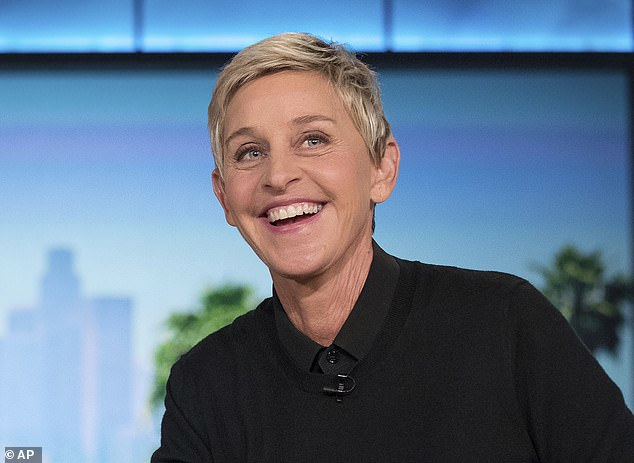 Happy face: Ellen is known for her kind gestures on her daytime talk show