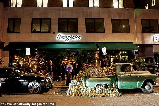 Lázaro Rosa-Violán was behind the interior design of the trendy London restaurant Amazonico