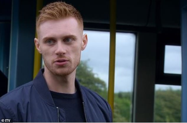 Drama: Max plays Luke Posner on the soap, who sparked up a romance with Victoria Sugden after she was raped by his brother Lee