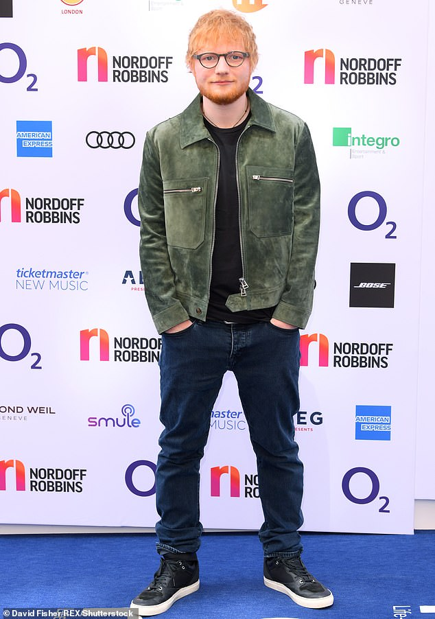 Sad:Ed Sheeran, 29, has revealed he visited his terminally ill grandmother's bedside almost daily during her final months