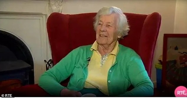 Sad:The singer, 29, revealed he is still pals with many of the NHS staff at Aldeburgh Hospital in Suffolk who took such good care of his Irish grandmother Anne (pictured) until her death