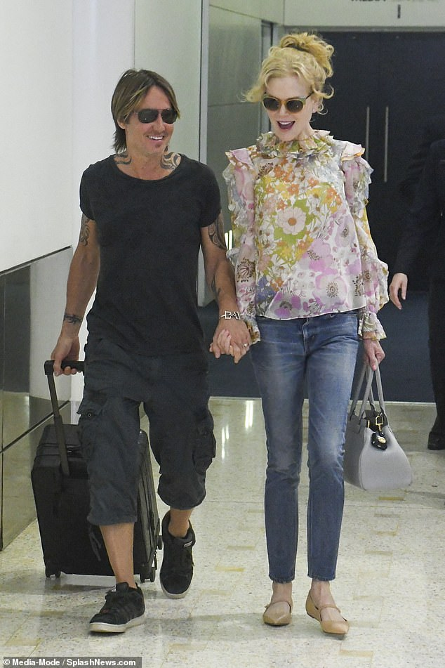 The results are in: Eighty per cent of Daily Mail readers say Nicole and Keith SHOULD have quarantined at a hotel like everyone else - as they self-isolate at their $6.5million country estate. Pictured arriving in Sydney during an earlier visit in December
