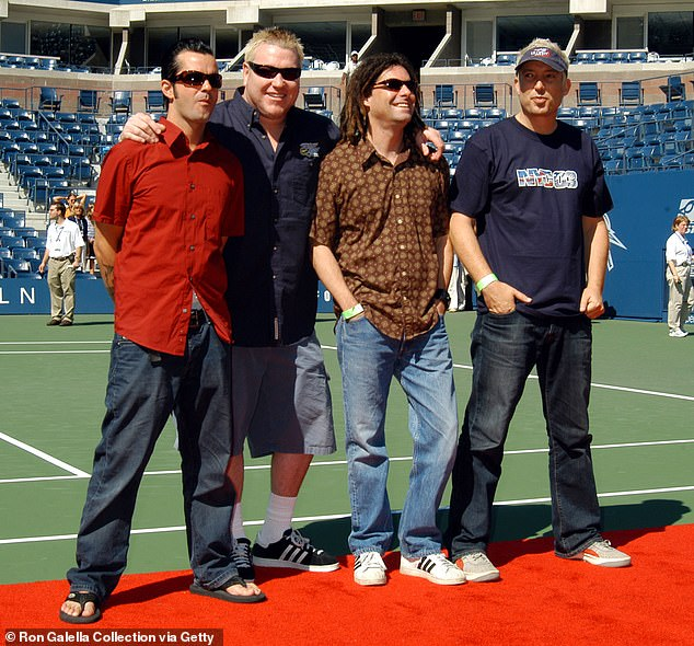 Curveball: Though the majority of music lovers and critics have expressed their love for Folklore, rock band Smash Mouth appeared less than enthralled with the album; Smash Mouth pictured