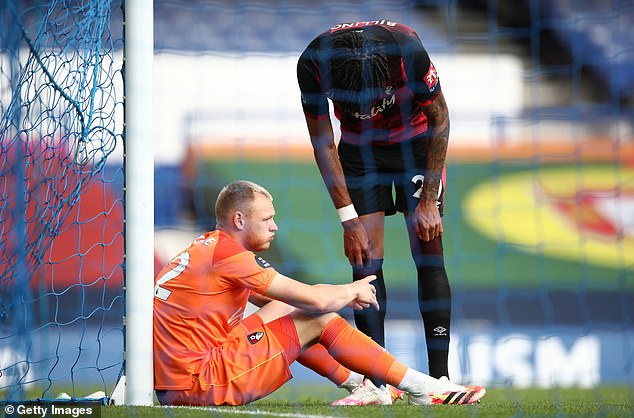 Bournemouth keeper Adam Ramsdale was close to tears as the Cherries are confirmed down
