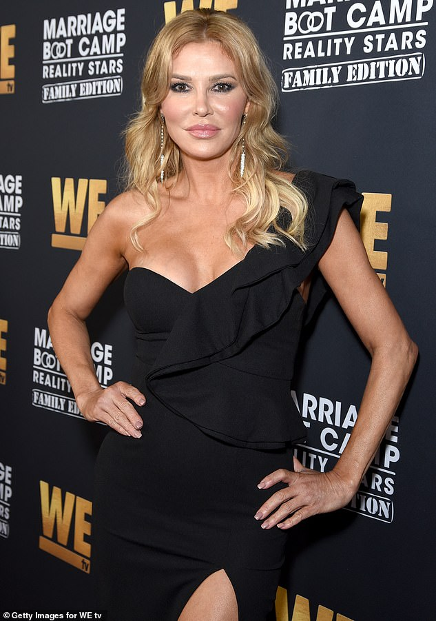 Superstar: Brandi has appeared on more than ten reality shows since shooting to fame on the Real Housewives of Beverly Hills. Pictured in October 2019