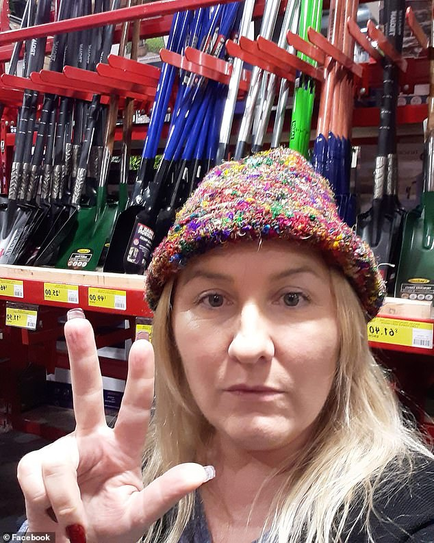 Ms Rose famously recorded herself inside the Bunnings store in Maribyrnong, in Melbourne's west, where she planned to buy plant pots and items for her 'Viking fire pit'