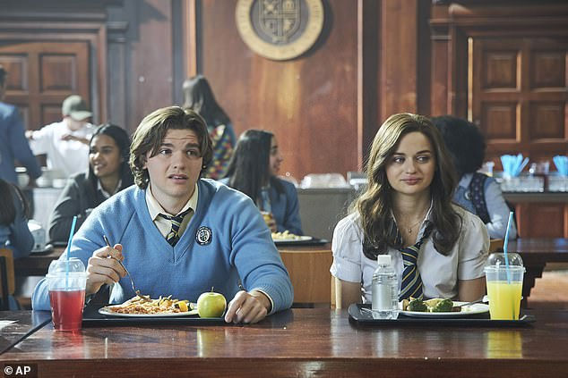The sequel: Joel Courtney and Joey are shown in a still from The Kissing Booth 2