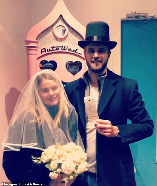 In May, Cressida hinted that their original wedding had to be postponed due to the current crisis, posting a snap as she and Harry posed in front of a disguised 'Auto-wed' machine.