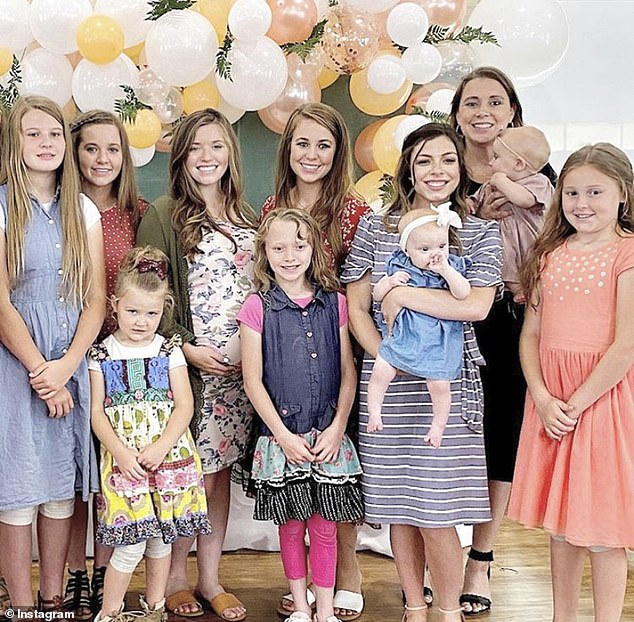 More girls: Her sisters-in-law Lauren and Anna (who is married to sex pest Josh) also came with their daughters