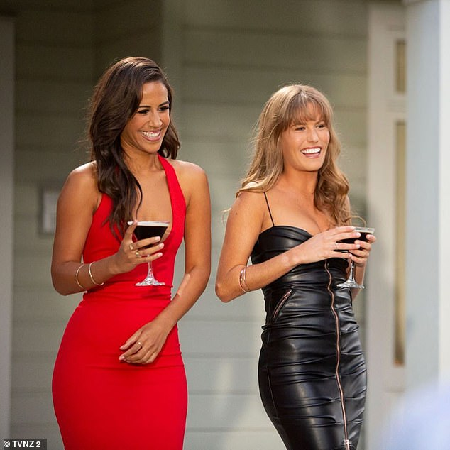 Making history: Earlier this year, The Bachelorette New Zealand made history by featuring both Dr Lesina Nakhid-Schuster, 32, (left) and Lily McManus, 22, (right) as joint Bachelorettes