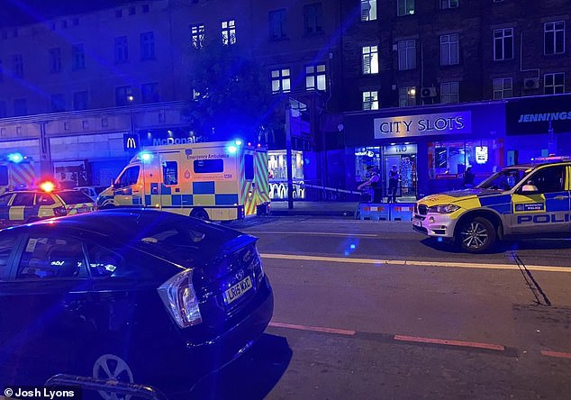A man was stabbed to death last night at the City Slots arcade on Camden High Street